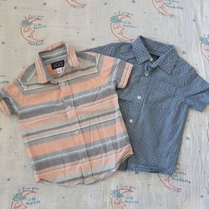 Two Children's Place Button Up Shirts 3T
